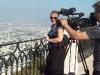2010 Karl und Martina Birngruber bei Filmaufnahmen in Haifa. Foto: Maria Winklbauer (privat).