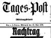 Artikel in der Linzer Tages-Post vom 18. Mai 1938 über die Errichtung der